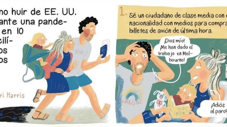 El cómic periodístico dibuja la crisis de la covid