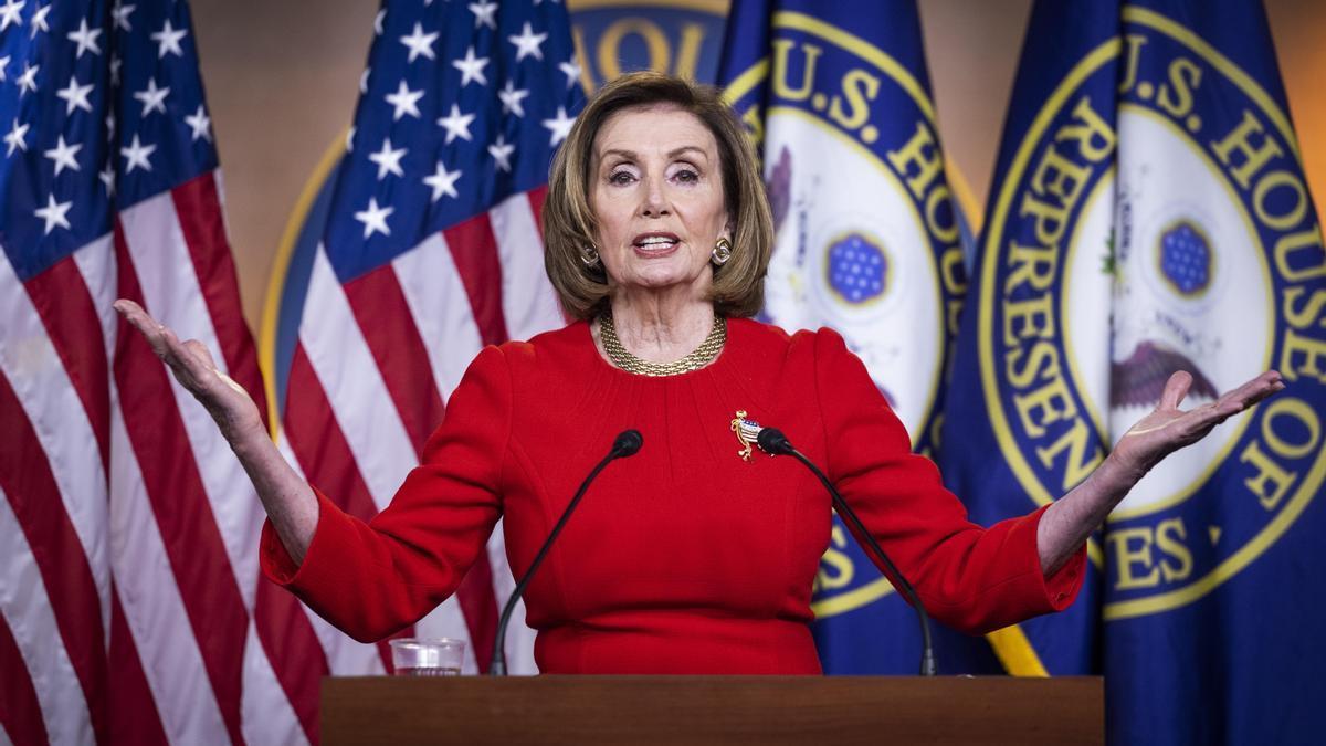 La presidenta de la Cámara Baja, Nancy Pelosi.