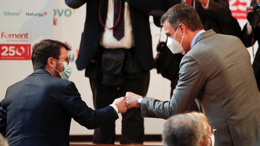 Sánchez i Aragonès aposten per una nova etapa i ERC allunya la via unilateral