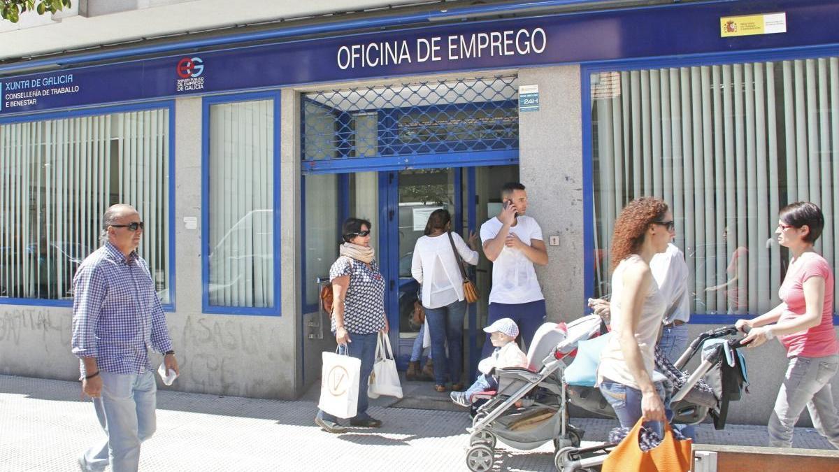 Una oficina de empleo en Pontevedra. // S. Álvarez