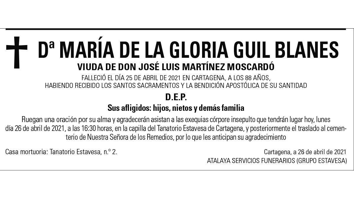 Dª María de la Gloria Guil Blanes