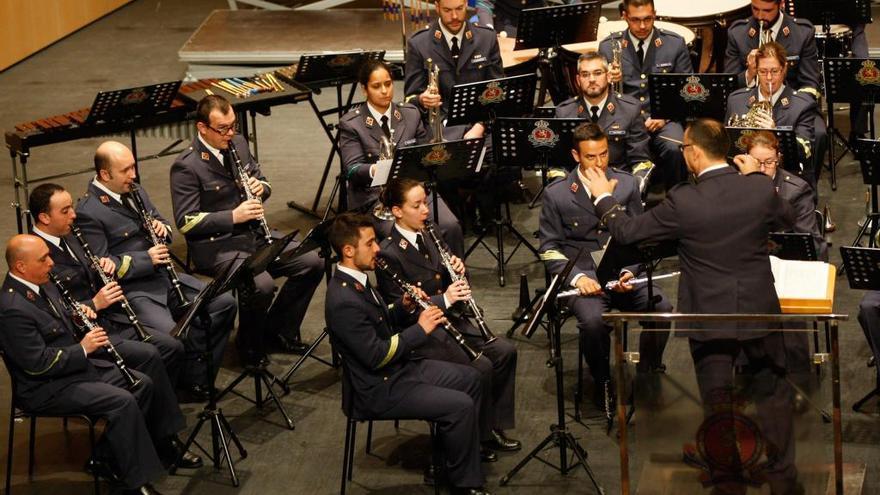 Los acordes militares de la Academia del Aire de León, de nuevo en Zamora
