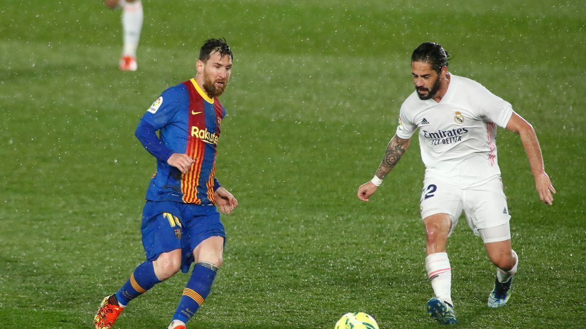 Messi and Isco, during the last & # 039; Clásico & # 039 ;.