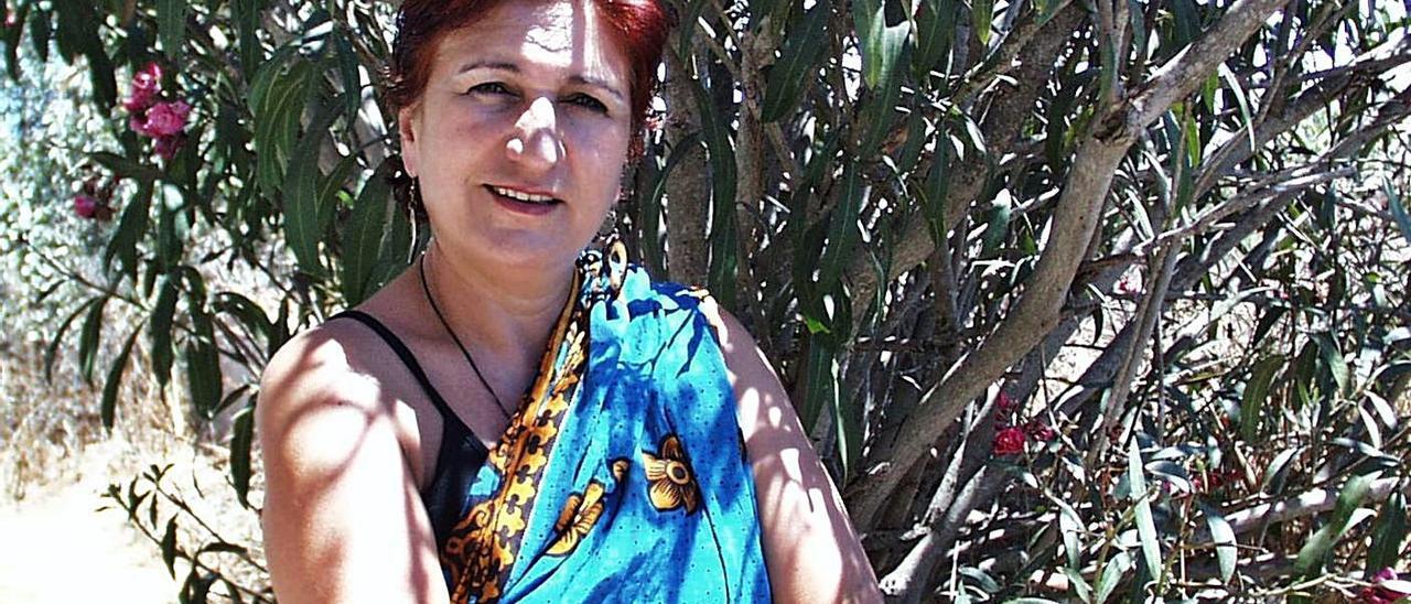 Una imagen de archivo de Pilar Estébanez en Formentera.
