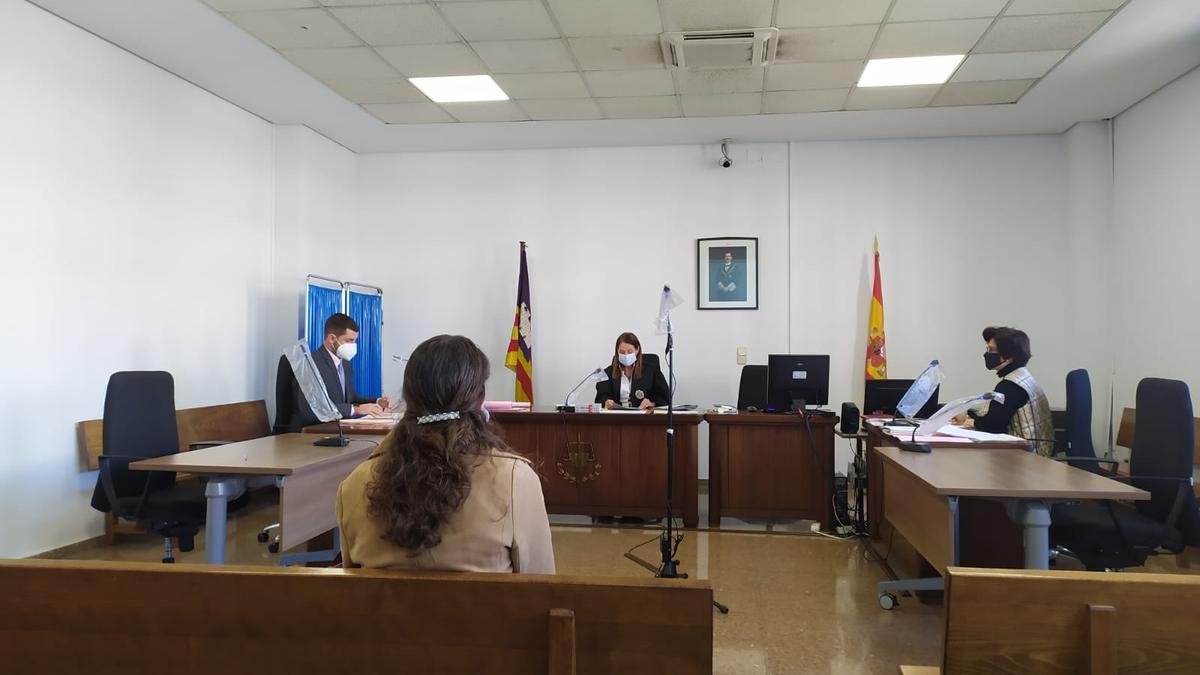 La acusada, este martes durante el juicio
