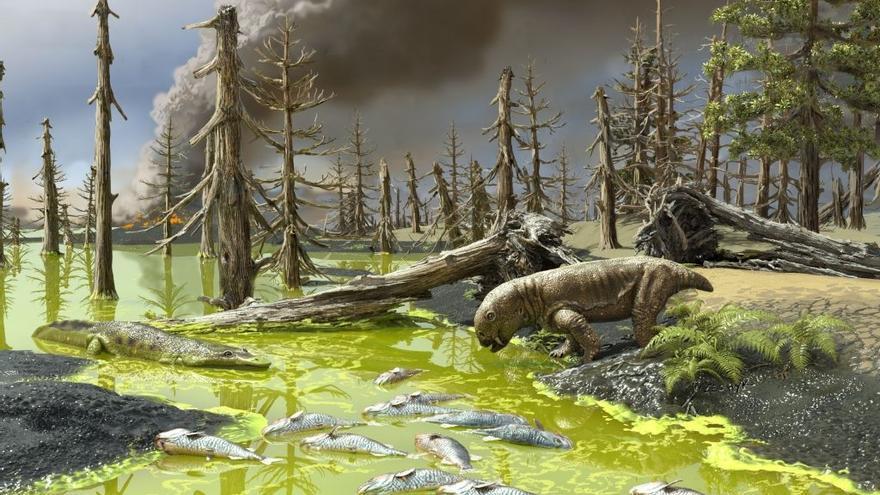 Una sopa tóxica causada por el cambio climático, motivo de la peor extinción de la Tierra