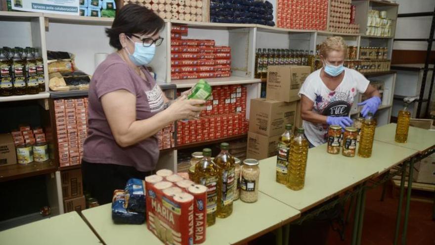 Los bancos de alimentos asumen una demanda cada vez mayor