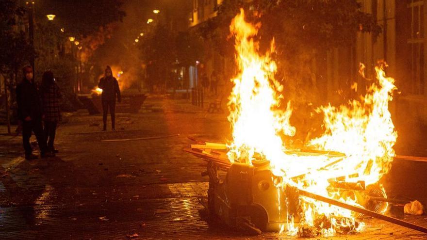 Ingresan en prisión cinco jóvenes por los disturbios del fin de semana en Logroño