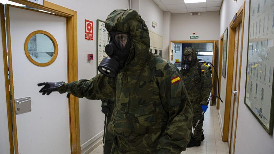 """El MOE desinfecta el CdT para los 300 menús de """"Alicante Gastronómica Solidaria"""""""