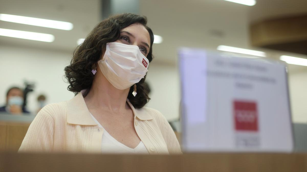La presidenta en funciones de la Comunidad de Madrid, Isabel Díaz Ayuso.