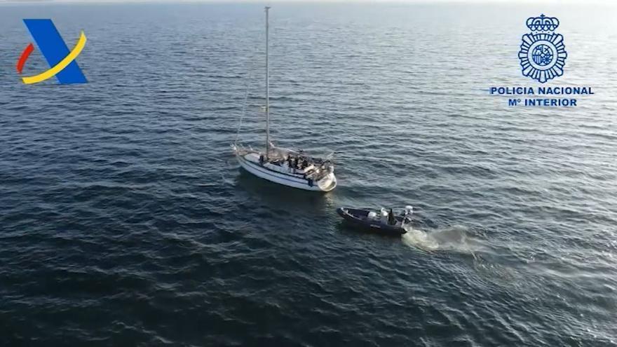 Tres detenidos en Málaga por un alijo de 2,5 toneladas de cocaína encontradas en un velero