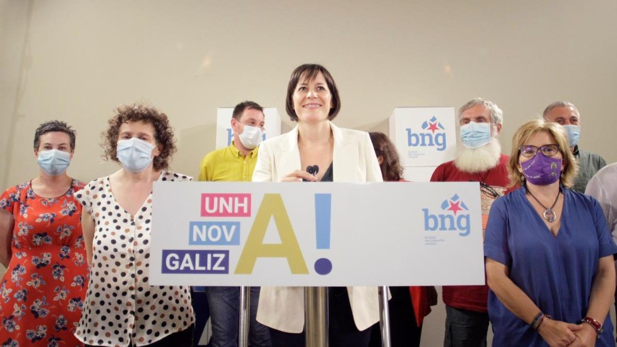 Ana Pontón valora los resultados electorales.