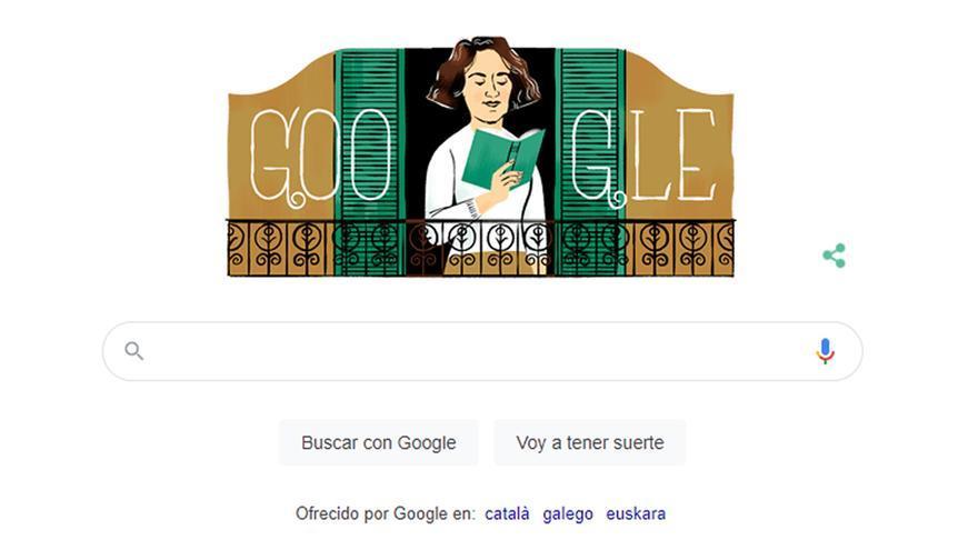 El doodle de Google hace un homenaje a la escritora Carmen Laforet