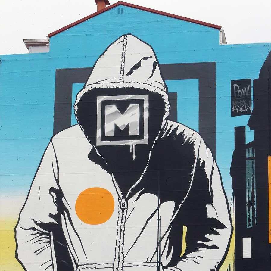 "Mural de Powone en homenaje al ""Marisquiño"""