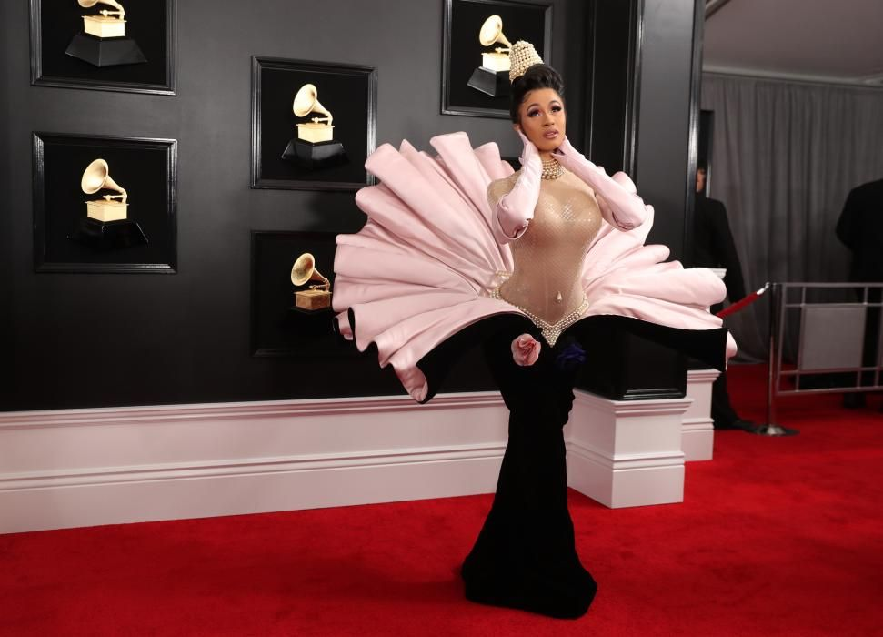 Cardi. B. en los Grammy.