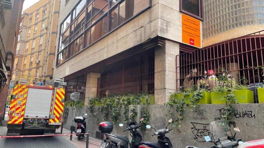 Susto en la Concejalía de Hacienda en la Plaza Europa por un incendio