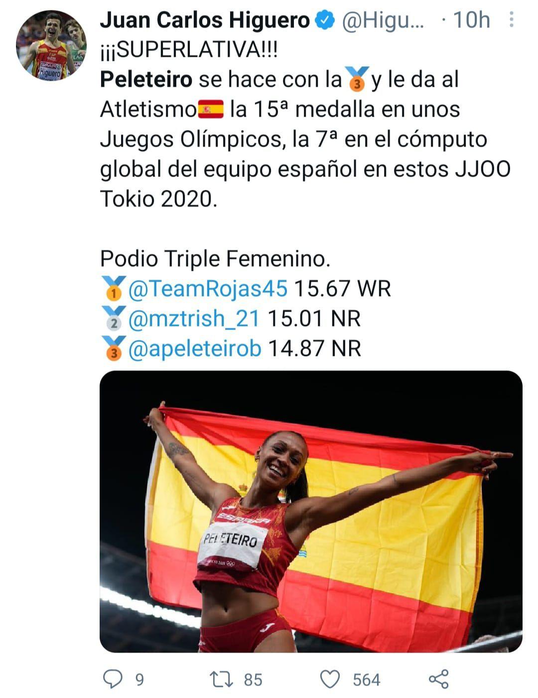 Y el también medallista español Juan Carlos Higuero.