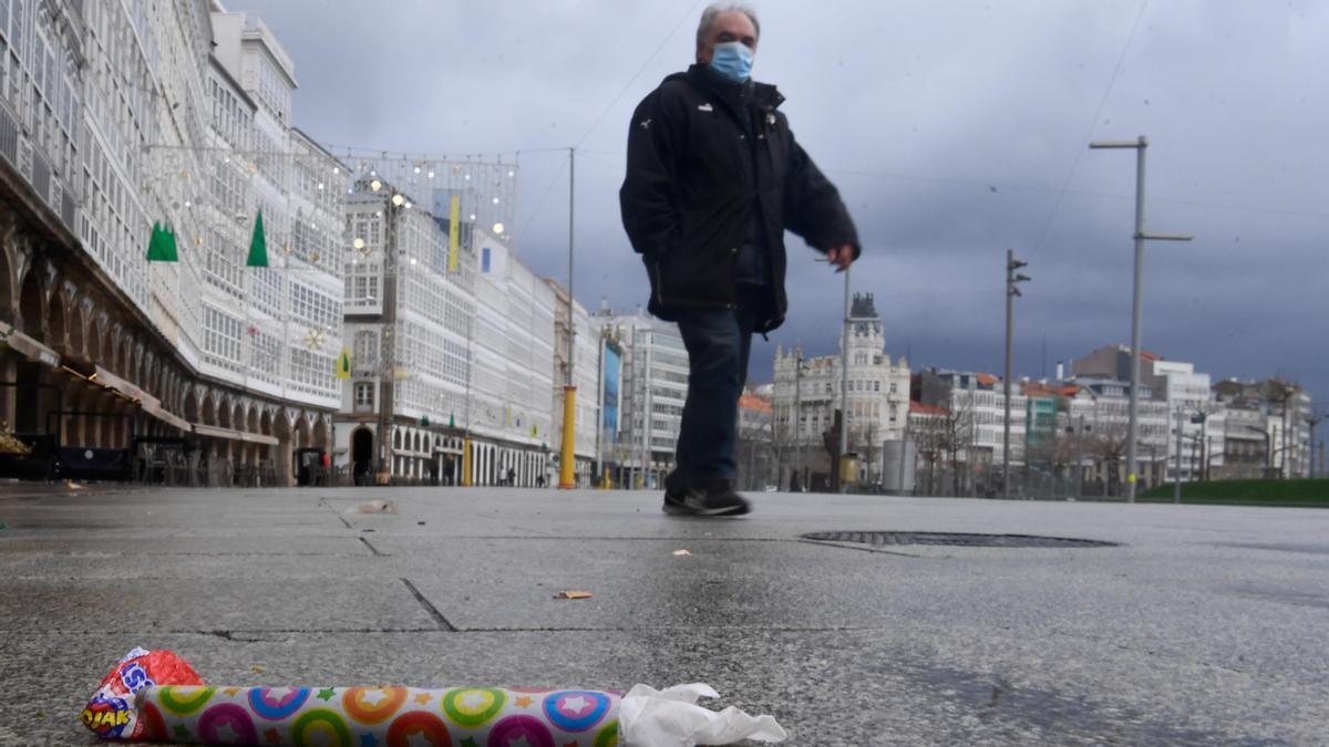 Las calles de A Coruña reciben un Año Nuevo Diferente