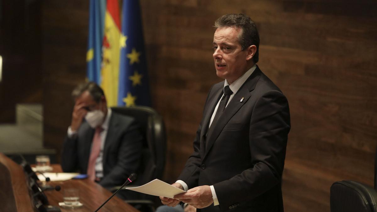 Marcelino Marcos Líndez, presidente de la Junta General del Principado.