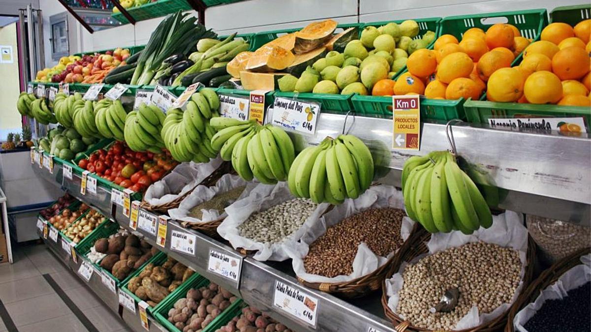 Productos locales de la Sociedad Cooperativa La Candelaria de La Laguna.