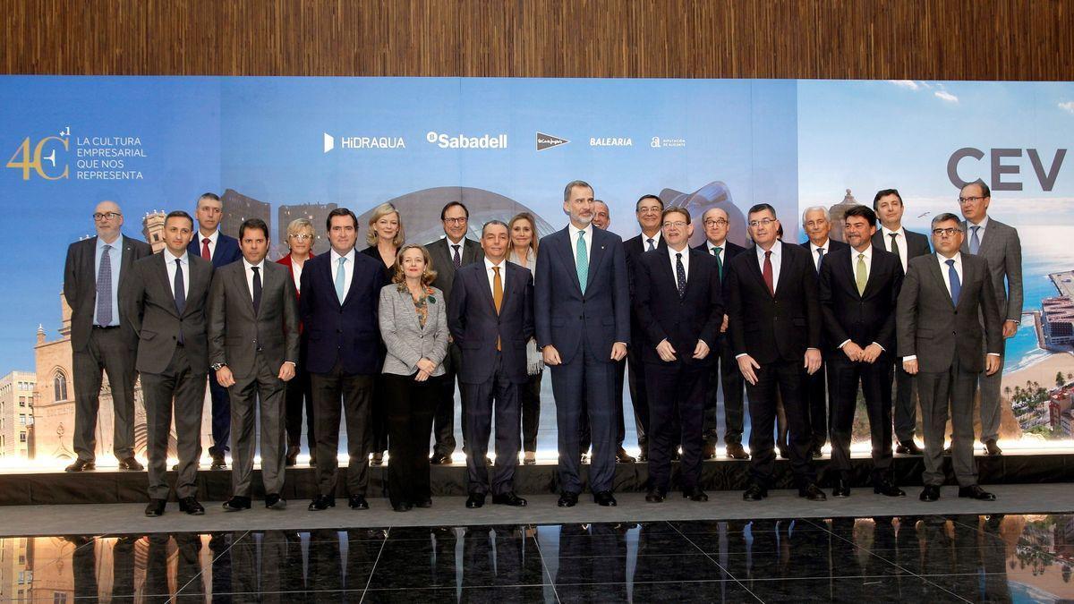 El Rey ya presidió el 40ª aniversario de la patronal autonómica CEV en 2019 en Alicante.