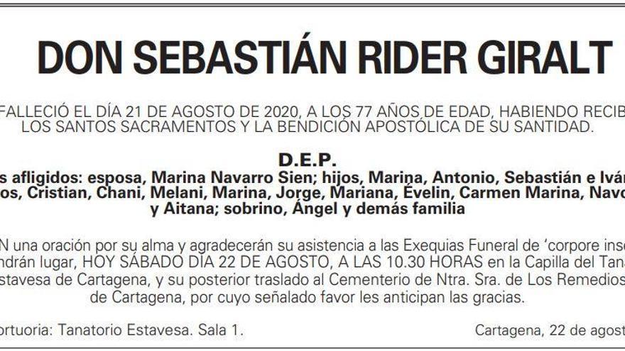 D. Sebastián Rider Giralt
