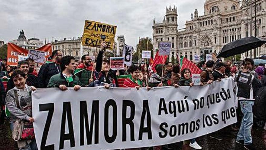 Un momento de la manifestación contra la despoblación celebrada este año en Madrid.