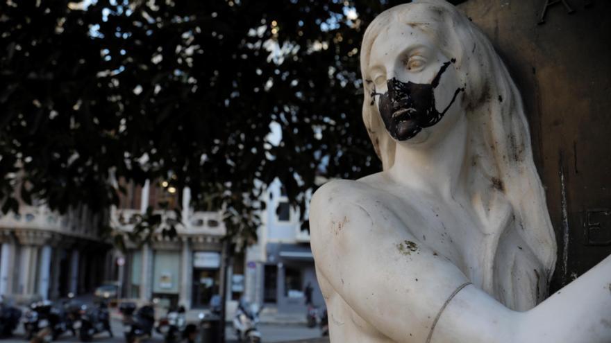 Palma registra cuatro ataques vandálicos contra esculturas en una semana