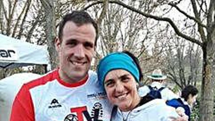 Pepa García, campeona del Duatlón de Cuéllar por parejas