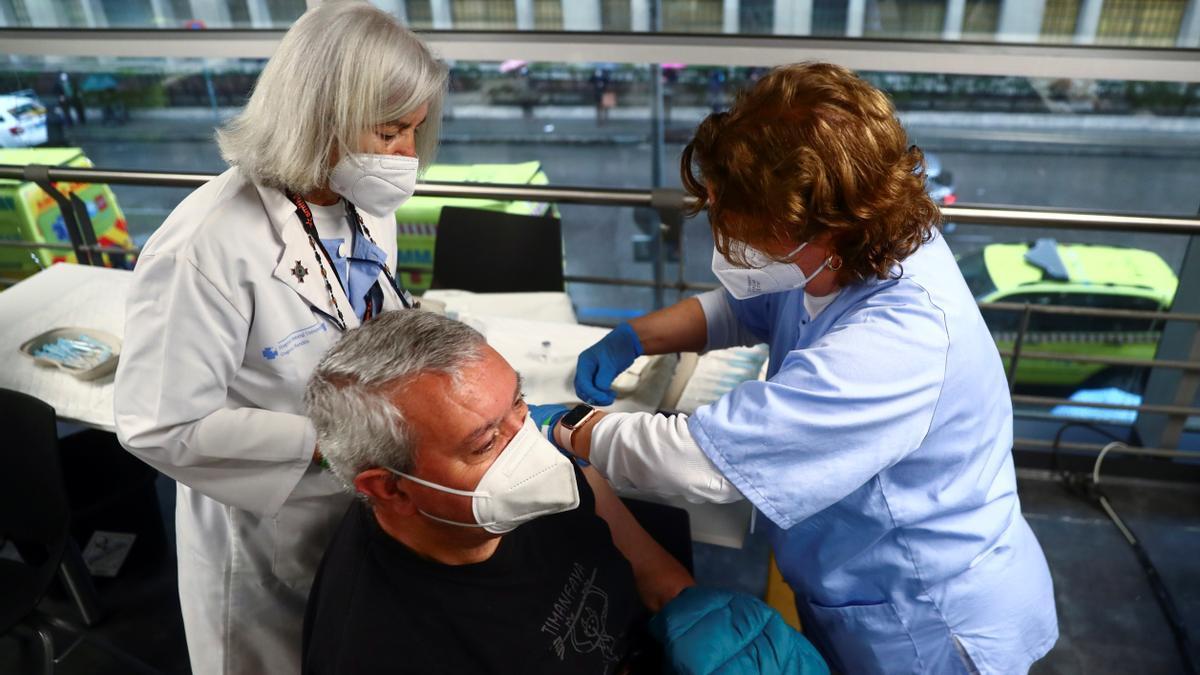 Vacunación en el Wizink Center de Madrid