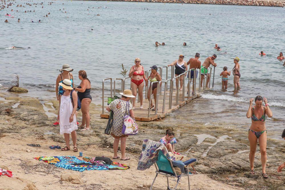 Playa de Los Náufragos, en Torrevieja, con bandera azul. Torrelamata-Sur y Cabo Cervera, en la misma localidad, también tienen el distintivo de calidad.