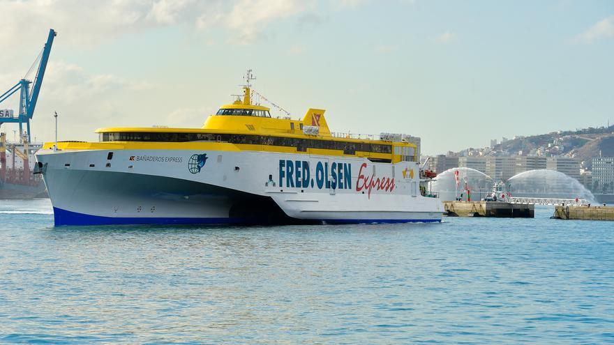 Llegada del 'Bañaderos Express' al puerto de Las Palmas