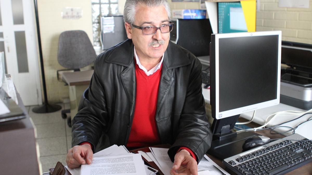 Jurado durante una entrevista en La Opinión de Zamora