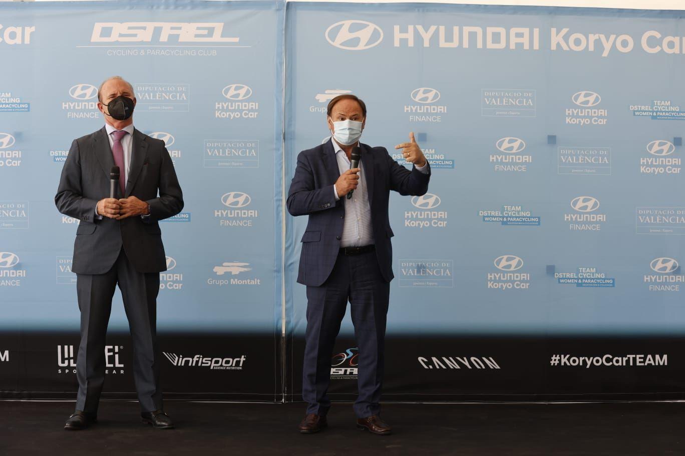 Presentación del equipo ciclista Hyundai Koryo Car