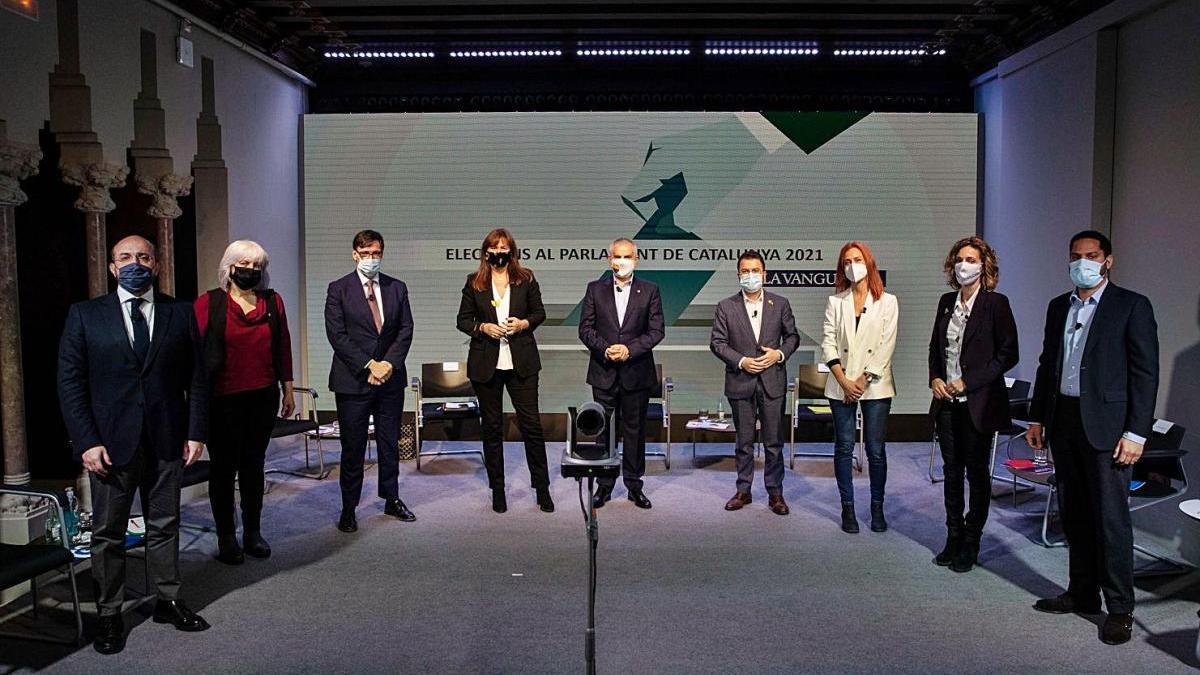Els candidats dels principals partits van celebrar ahir el seu primer debat electoral