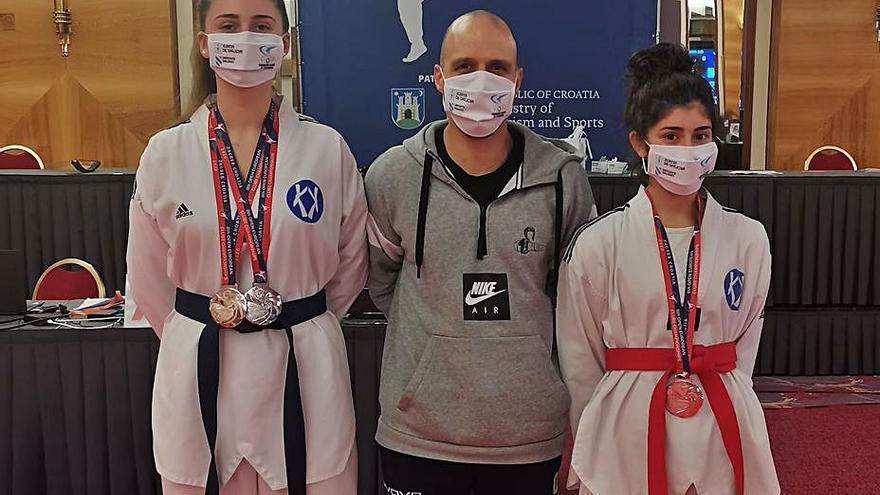 Laura Penas y Lucía García, medallistas en el Europeo de clubes
