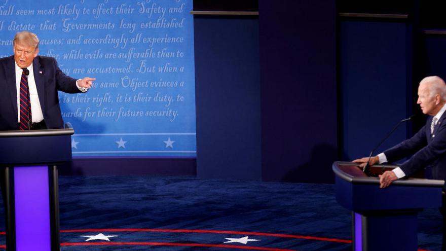 El formato de los debates entre Trump y Biden cambiará para evitar otro caos