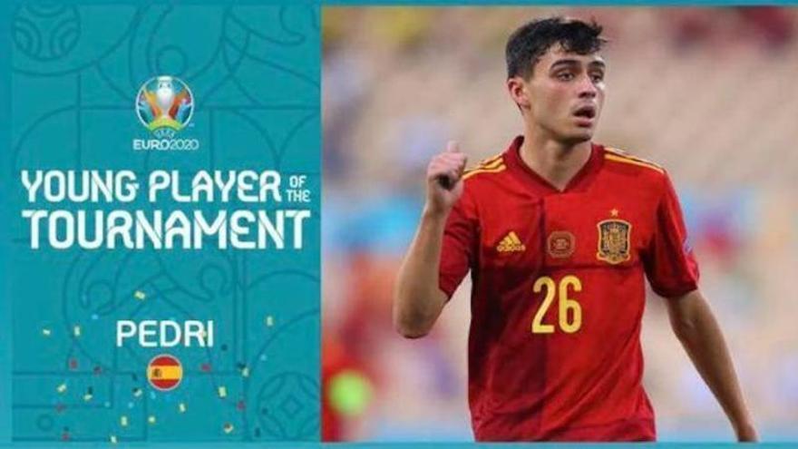 Pedri, elegido mejor jugador joven de la Eurocopa