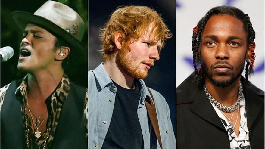Bruno Mars, Ed Sheeran y Kendrick Lamar, los más nominados en los Billboard Music Awards 2018
