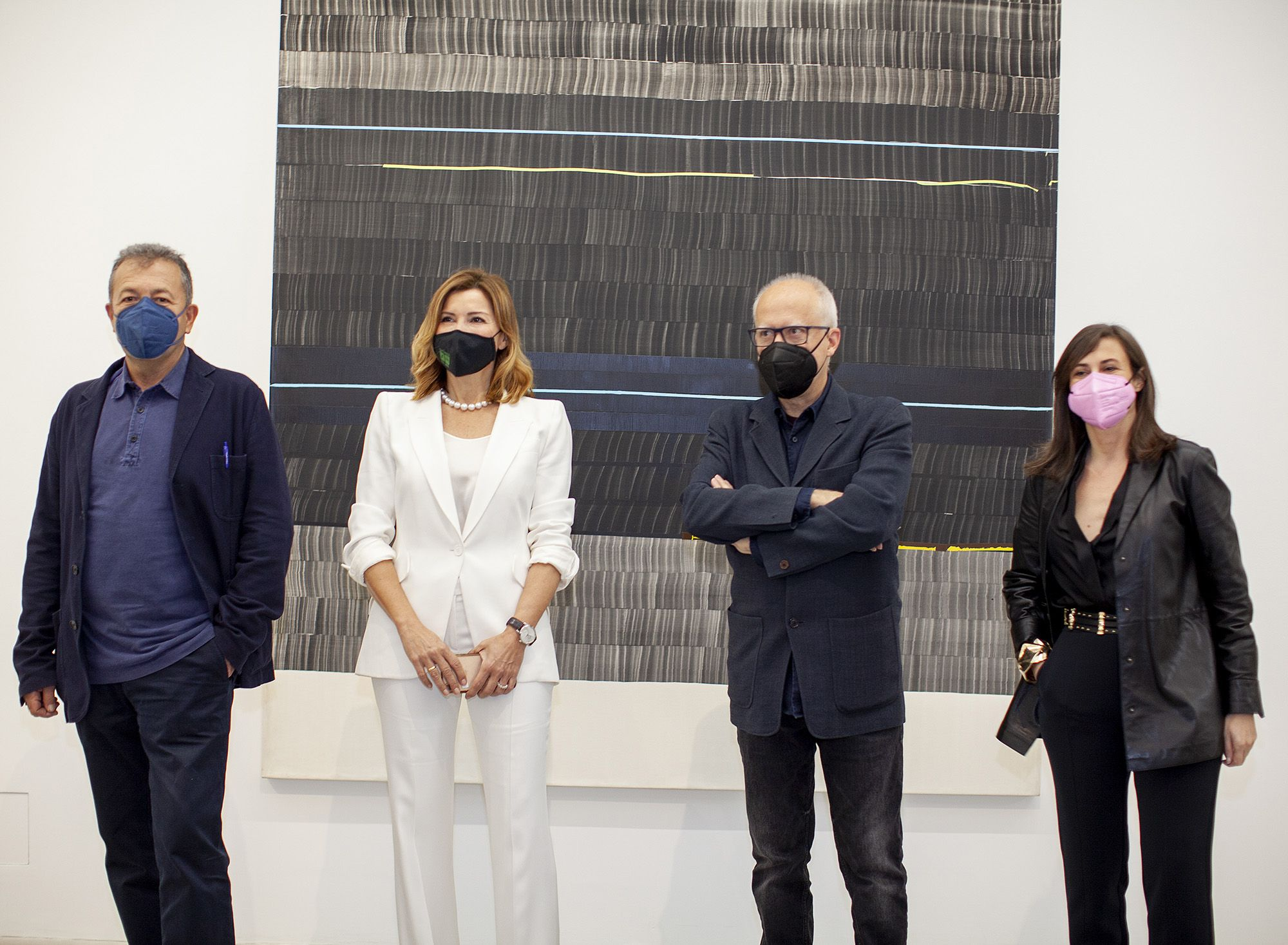 Vicent Todolí, Susana Lloret, Juan Uslé y Sandra Guimaraes.