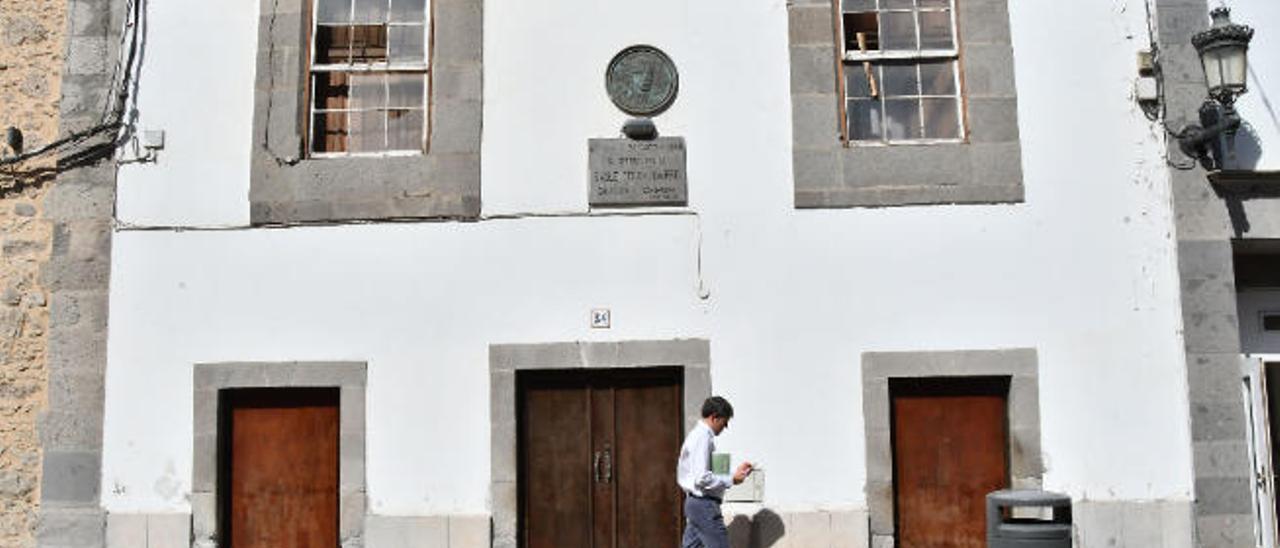 La antigua casa del poeta Saulo Torón en la calle León y Castillo.