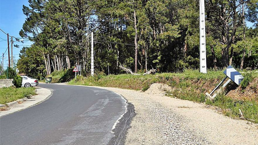 Las obras de la carretera de A Besta se reanudan este mes