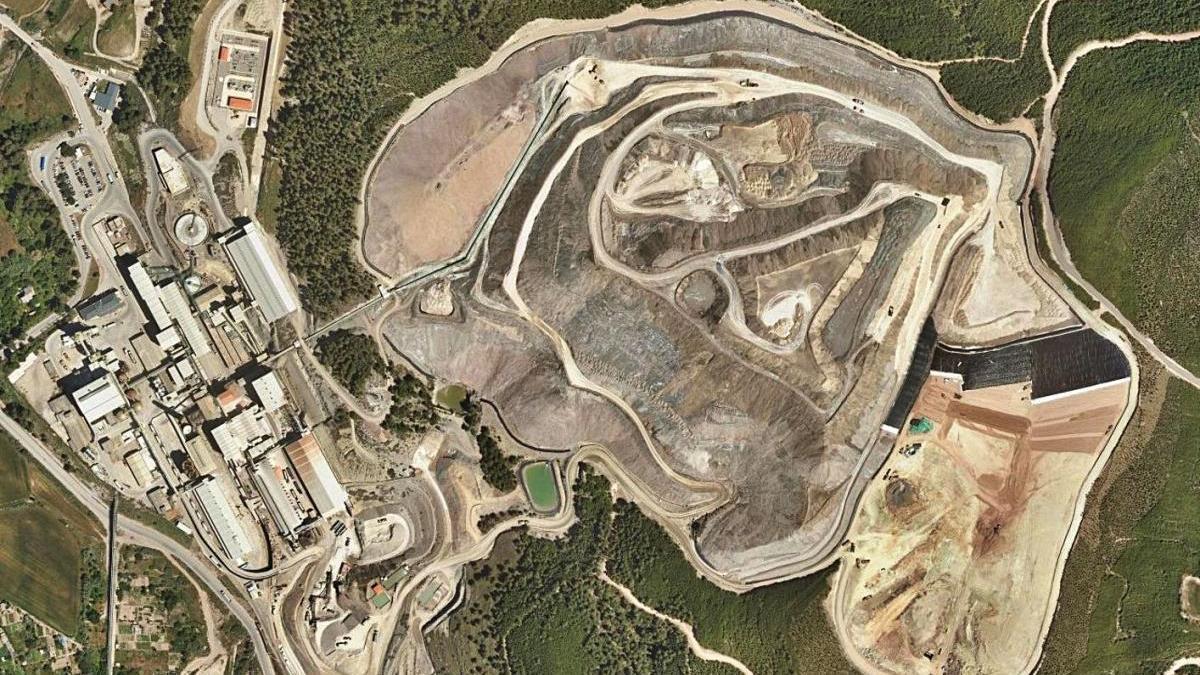 Vista aèria del runam del Fusteret de Súria