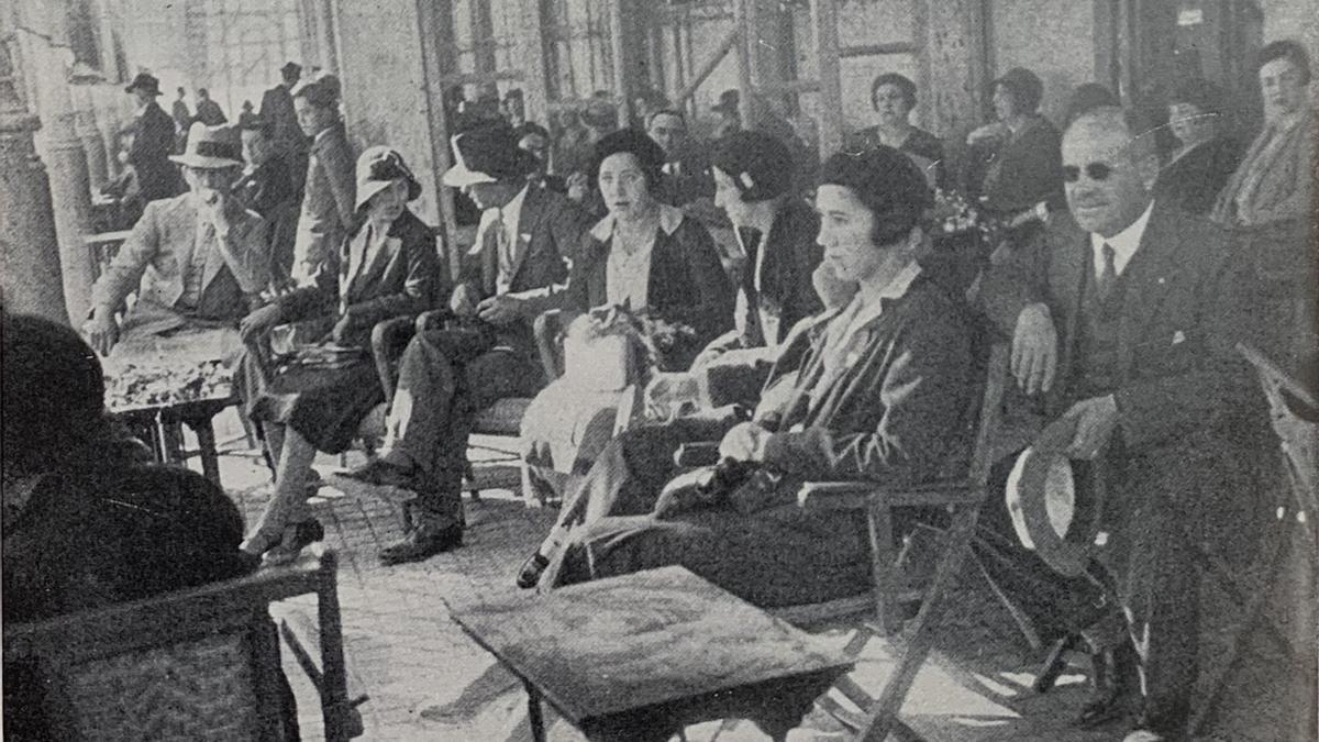 Rotarios de varios clubs del distrito 60, en la inauguración del Rotary Club de Alicante, el 22 de noviembre de 1930