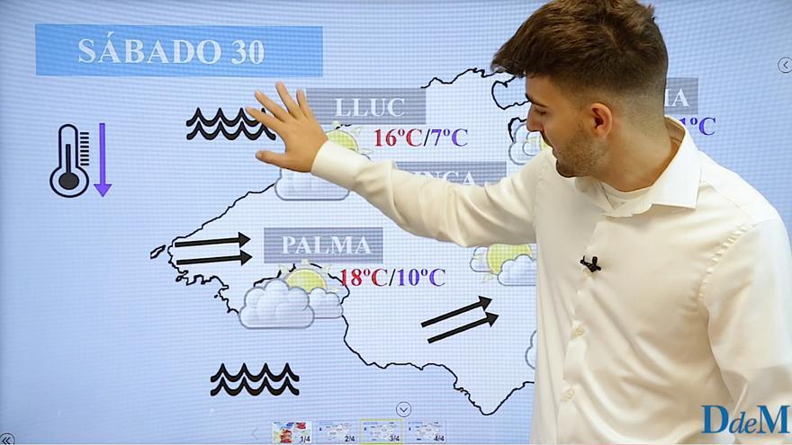 El tiempo del fin de semana en Mallorca: La borrasca Justine dejará fuertes vientos Baleares