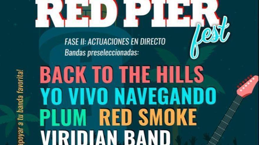 Vota a tu banda favorita para que actúe en el Red Pier Fest