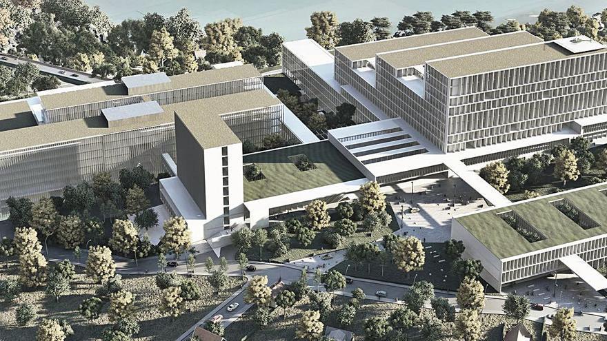 Los diseñadores del nuevo hospital prevén que su primer edificio esté terminado en 31 meses