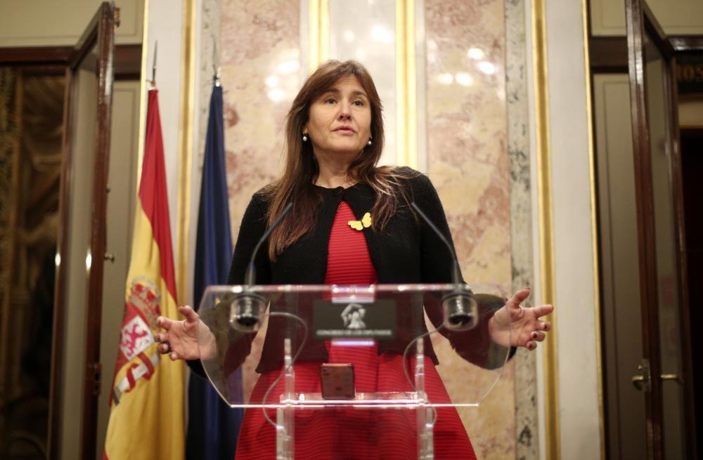 La portavoz parlamentaria de Junts per Catalunya ...