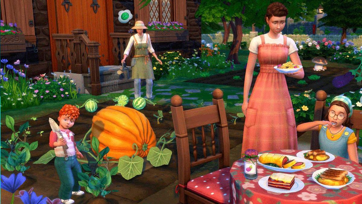 Una imagen de 'Vida en el Pueblo', de Los Sims.