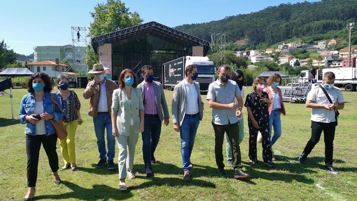 La conselleira de Medio Ambiente, Ángeles Vázquez, en la visita al recinto del SonRías.